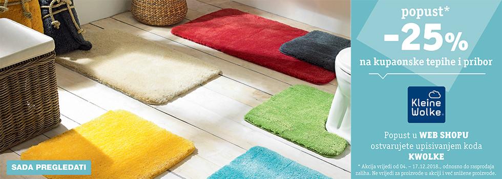 25% popusta na kupaonske tepihe i pribor robne marke Kleine Wolke XXXL Lesnina