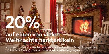 20% auf einen von vielen  Weihnachtsmarktartikeln