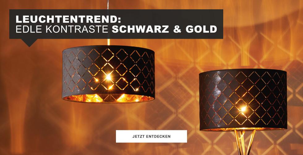 Leuchtentrend Schwarz & Gold