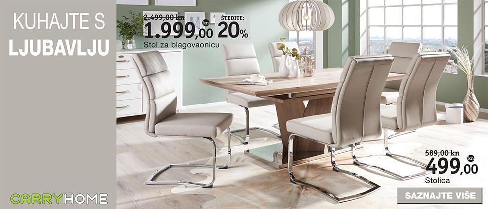 Elegantan blagovaonski stol i stolice Lesnina XXXL