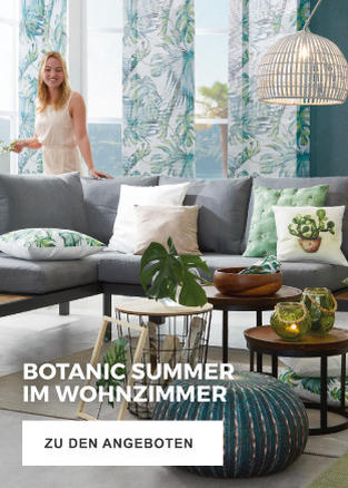 Botanic Summer für Ihr Wohnzimmer