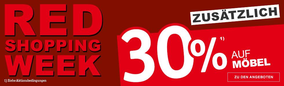 Red Shopping Week 30 % auf Möbel
