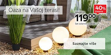 Moderno osvjetljenje za Vaš vrt i terasu Lesnina XXXL