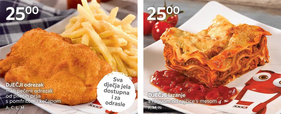 Dječja jela u XXXL restoranu