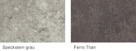 Set One by Musterring Korsika Arbeitsplatten Speckstein Ferro Titan