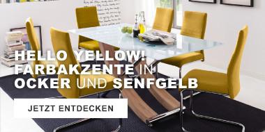 Hello Yellow Farbakzente in Ocker und Senfgelb