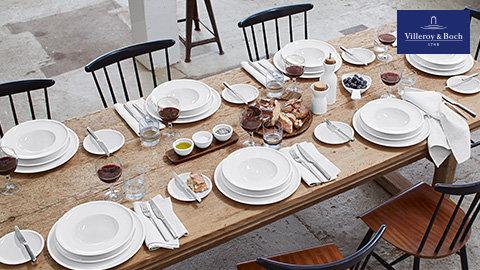 Villeroy & Boch Geschirr Weiß Tisch