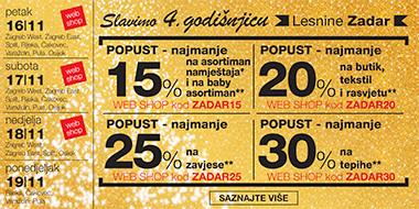 Popusti povodom godišnjice Lesnine Zadar