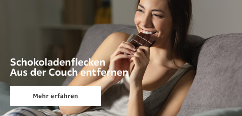 Schokoladenflecken aus der Couch entfernen