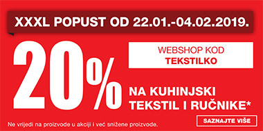 20% popusta na kuhinjski tekstil i ručnike u Lesnini