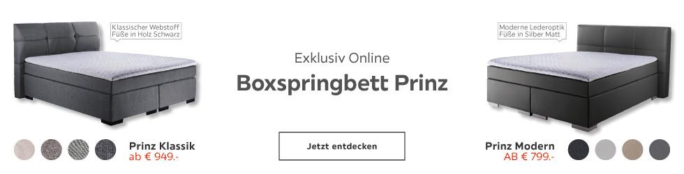 Exklusiv online: Boxspringbett Prinz