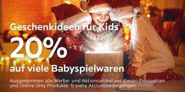 Geschenkideen für Kids:  20% auf viele Babyspielwaren