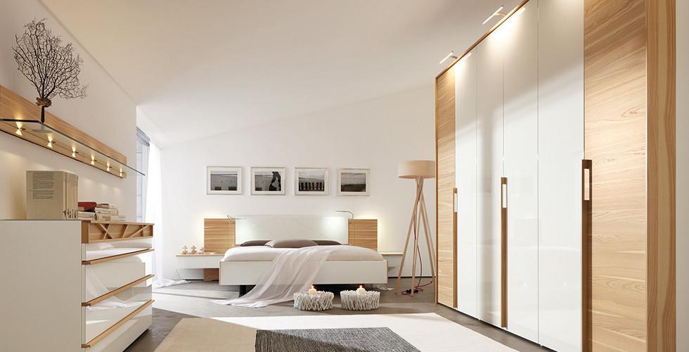 Schlafzimmer mit Stimmungsbeleuchtung