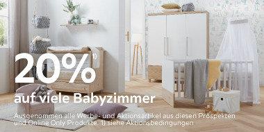 20% auf viele Babyzimmer