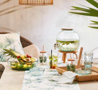Gläser Trinkgläser Tischwäsche in Botanic Style