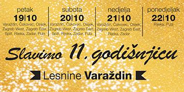 Slavimo 11. godišnjicu Lesnine Varaždin