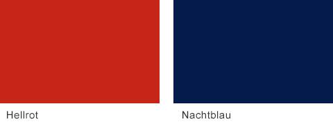 Set One by Musterring Korsika Frontfarben Hellrot Nachtblau