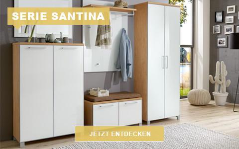 Garderobe Santina Eiche weiß