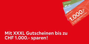 Mit XXXL Gutscheine bis zu 1.000.- sparen!