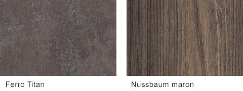 Set One by Musterring Malta Arbeitsplatten Ferro Titan Nussbaum maron