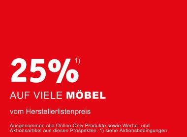 25% auf Möbel