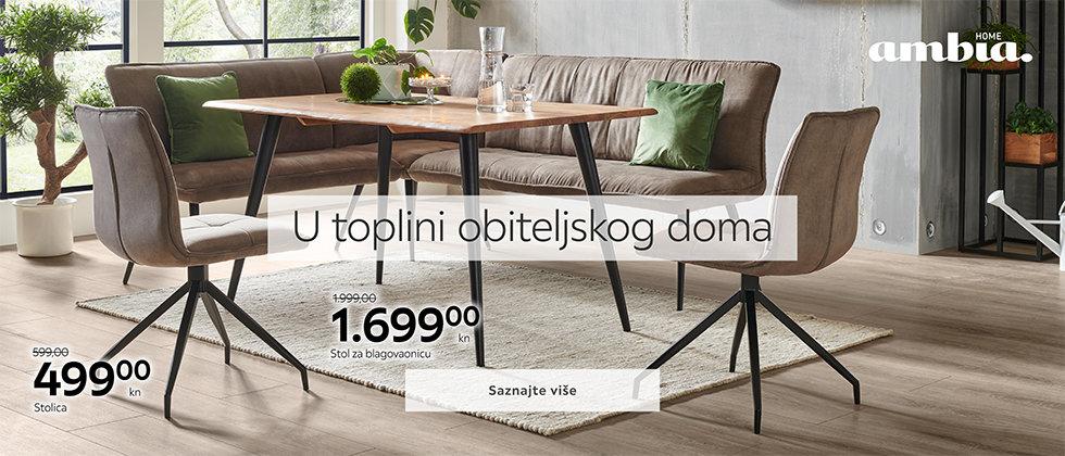 Moderan kuhinjski stol i blagovaonske stolice Lesnina XXXL