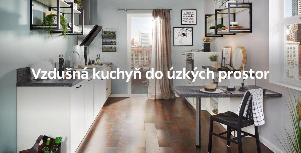 Kuchyň do úzkých prostor