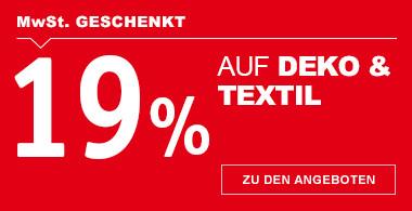 19 % MwSt. geschenkt