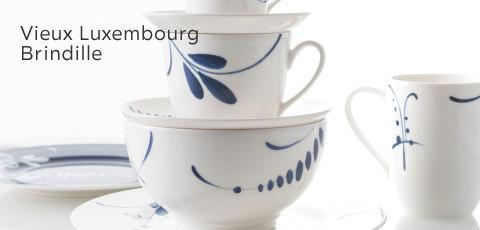 Villeroy & Boch Geschirr Vieux Luxembourg Brindille Blau Weiß