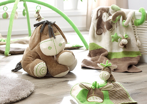 Baby Plüschtier, Schmusetuch und Spielzeug