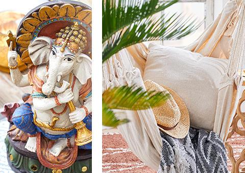 Accessoires im indischen Stil