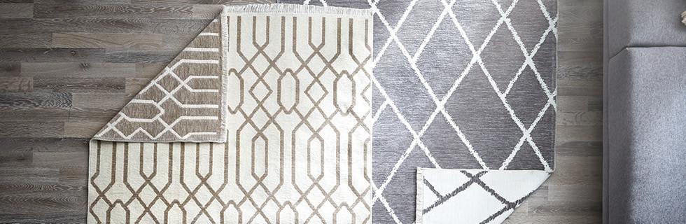 Teppiche in grau beige