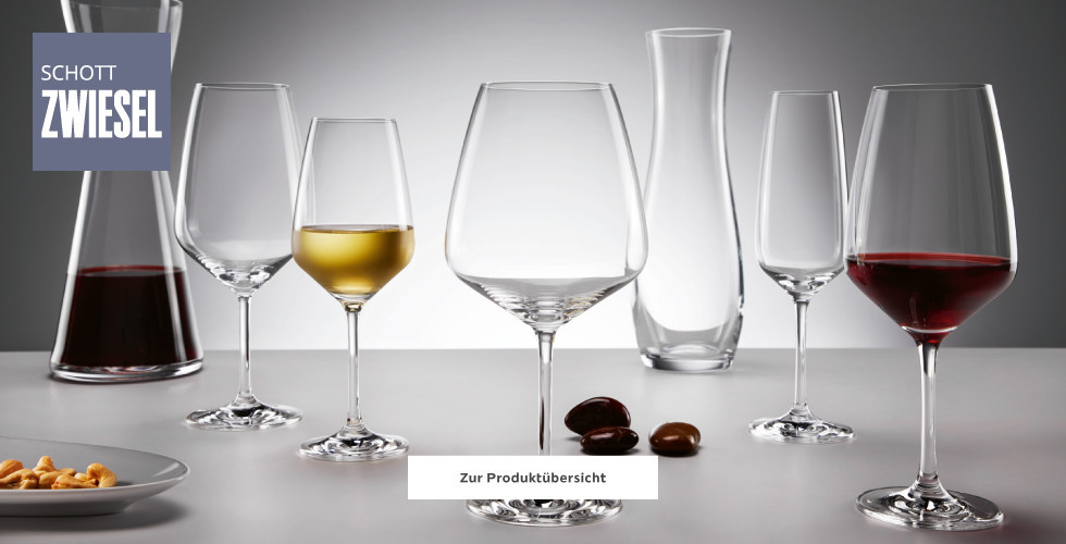 Große Auswahl an Gläsern von Schott Zwiesel