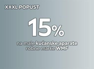 15% popusta na male kućanske aparate WMF Lesnina XXXL