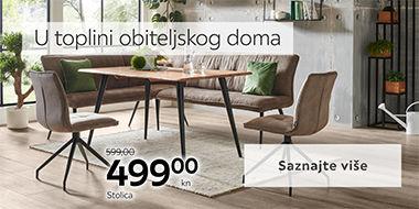 Moderan i elegantan blagovaonski stol i stolice Lesnina XXXL