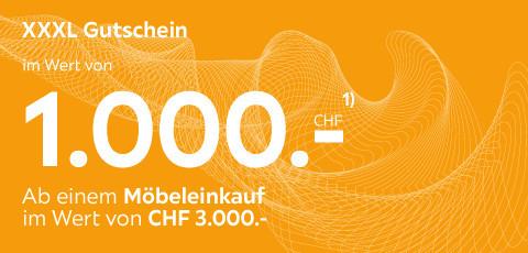 XXXL Gutschein im Wert von 1.000CHF