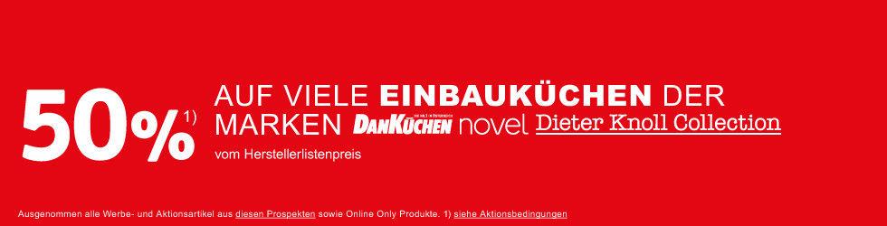 Einbauküchen 50% Dan Küchen Dieter Knoll Rot Weiß