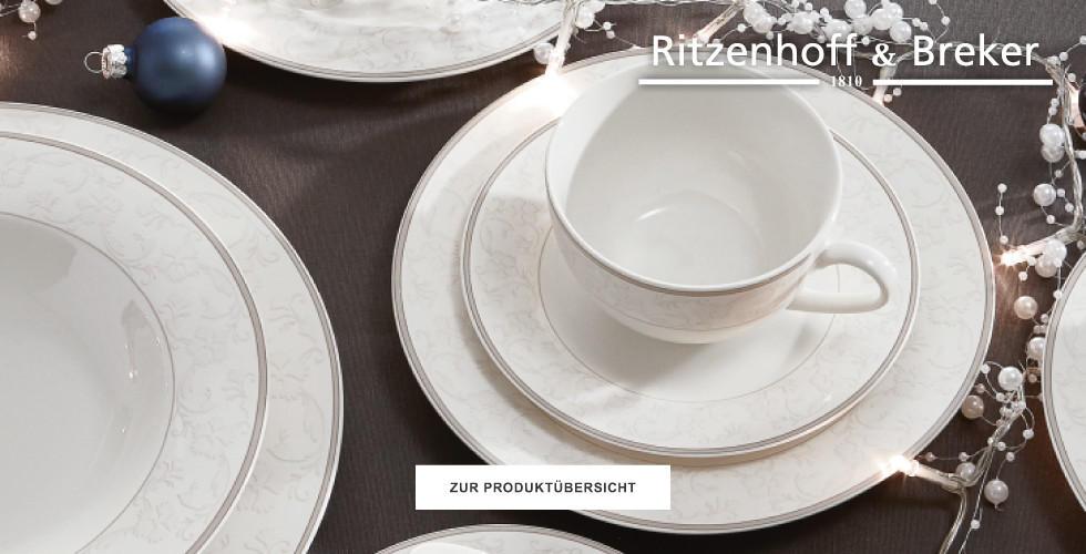 Ritzenhoff Breker Teeservice Kaffeeservice weiss