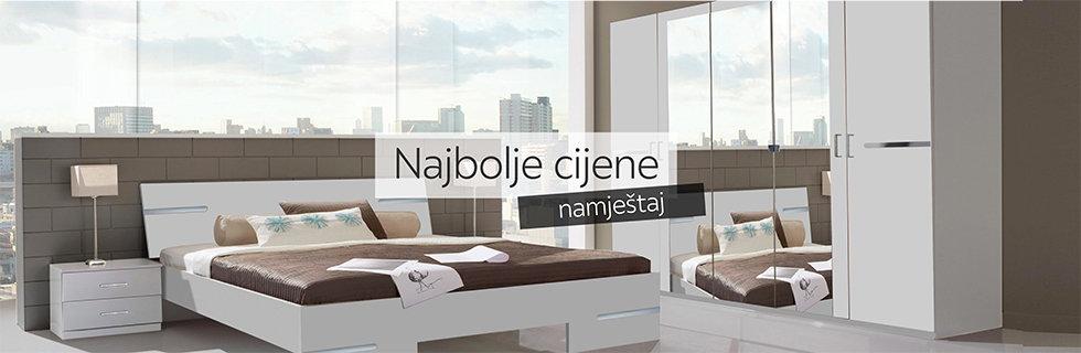 Moderna i elegantna spavaća soba bijele boje Lesnina XXXL