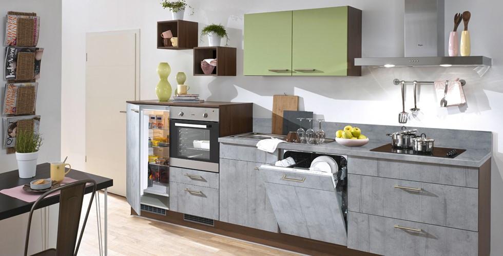 Küchenblock mit geräumiger Lade, funktionelle Ladeneinteilung bei XXXLutz.