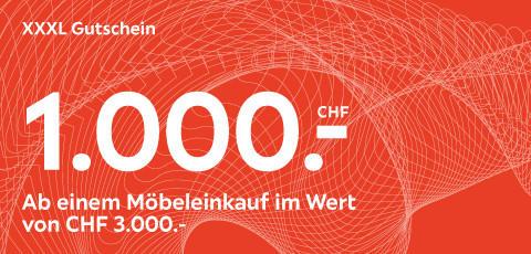 XXXL Gutschein im Wert von 1.000.- CHF auf Möbel