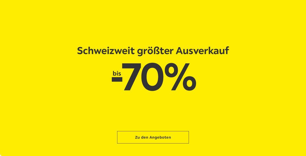 Schweizweit größter Ausverkauf