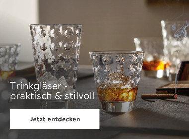 Trinkgläser - praktisch und stilvoll