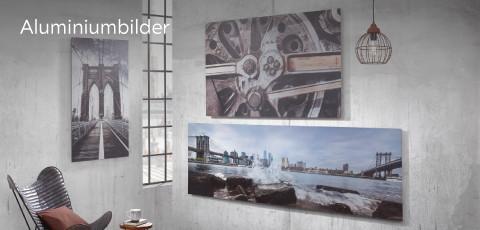 Aluminiumbilder Betonwand Monee