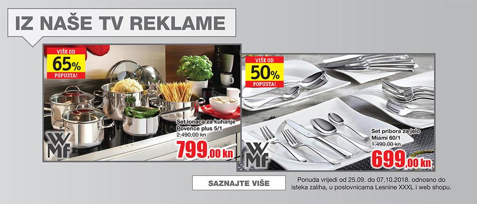akcija Lesnina TV reklama posuđe