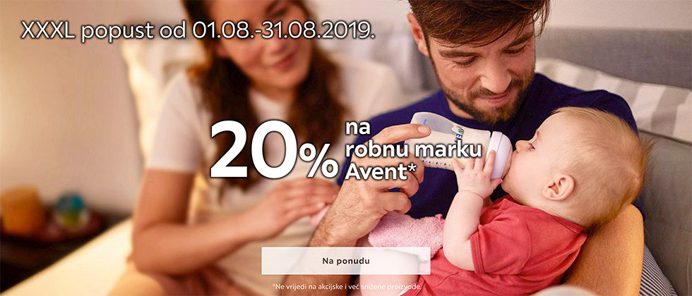 20% popust Avent