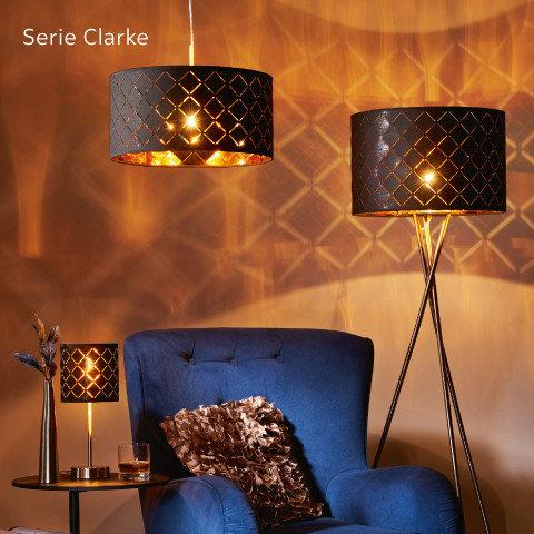 Leuchten Serie Clarke Braun Blau Orange