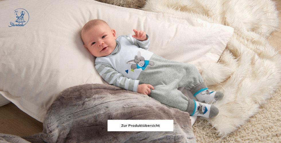 Sterntaler Baby Body Decke Weiß Braun