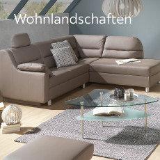 Wohnlandschaft beige Sofa