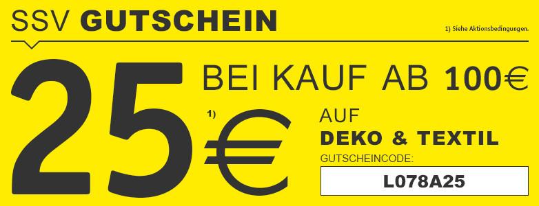 25€ ab 100€